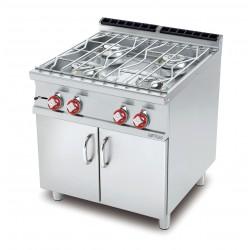 Cocina Sobres de Cocción de AGUA a GAS 4 Quemadores SERIE 70 LOTUS