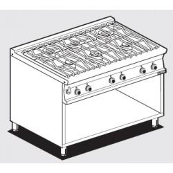 Cocina Sobre de Cocción de AGUA a GAS 6 Quemadores SERIE 70 LOTUS