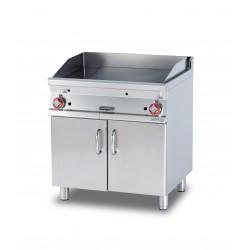 Plancha Fry-Top Acero Inox. con Mueble a Gas de 800x705x900 mm LOTUS