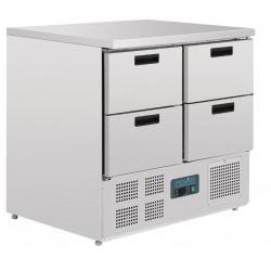Refrigerador mostrador compacto 4 puertas 240L Polar