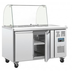 Mostrador frigorífico preparación Polar GN 2 puertas con pantalla