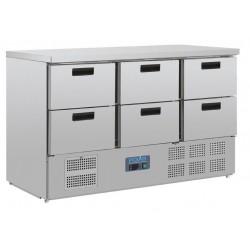 Mostrador frigorífico Polar 6 cajones