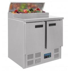 Mostrador de preparación de pizza y ensalada refrigerado 254L Polar