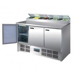 Mostrador de preparación de pizza y ensalada refrigerado 390L Polar