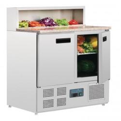 Mostrador de preparación de pizza refrigerado Polar 288L