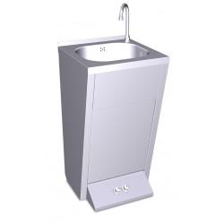 Lavamanos registrable con pedestal doble pulsador agua fría y caliente FRICOSMOS