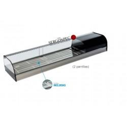 Vitrina Refrigerada 2 Parrillas Cristal Curvo FR-150i Con grupo incorporado