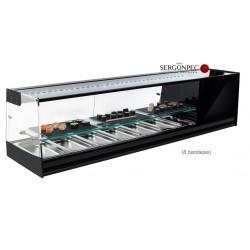 Vitrina Refrigerada Expositora SUSHI 8 bandejas con Estante Grupo Incorporado