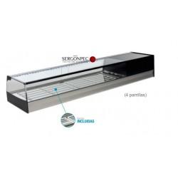 Vitrina Refrigerada 4 Parrillas Cristal Recto Con grupo incorporado