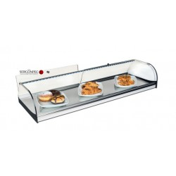 Vitrina Expositora Neutra Cerrada inox1220x360x175 mm LED