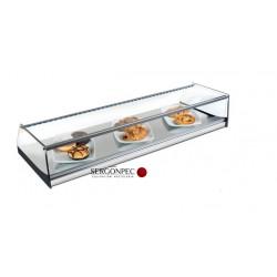 Vitrina Expositora Neutra 990x360x175 mm Cristal Recto, LED