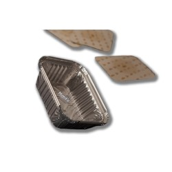 """Envase de aluminio rectangular """"chino"""""""