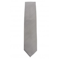Corbata plateada a rayas