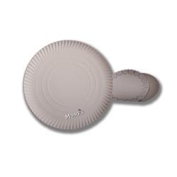 Plato de cartón blanco 32 cm de diámetro