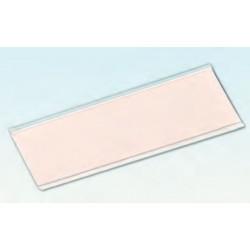 Guía adhesiva para etiquetas, transparente
