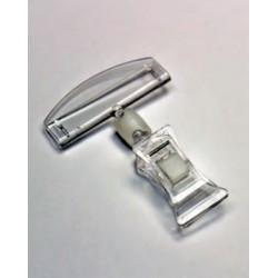 Soporte carteles Pinza abertura máxima 1 cm con soporte.
