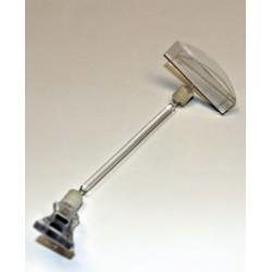 Soporte carteles Pinza abertura máxima 1 cm soporte 15 cm.
