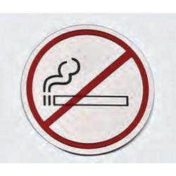 Cartel en acero inoxidable zona fumadores Ø 7,5
