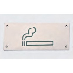 Cartel en acero inoxidable zona fumadores