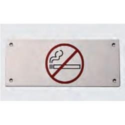 Cartel en acero inoxidable prohibido fumar