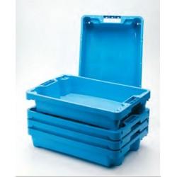 Cubeta azul pescadería 60 x 40 x 12,5 cm