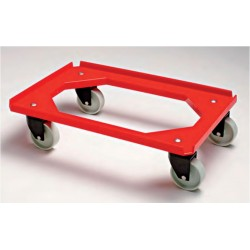 Base rodante para cubetas con 4 ruedas giratorias de poliamida