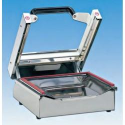 """Máquina selladora en """"U"""" con regulador de temperatura posición sobre mesa"""