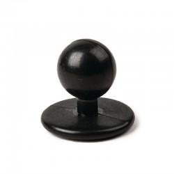 Botones de bola negros (paquete de 12 unidades)