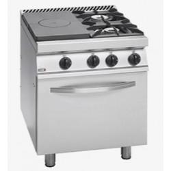 Cocina a Gas Media Plancha Izquierda 2 Fuegos