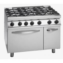 Cocina a Gas Fuego Abierto Con Horno Gama 700
