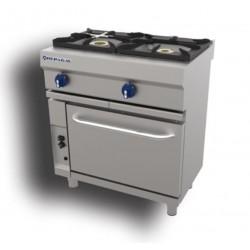 Cocina a gas + horno 1 - 6.50(Kw) . 1 - 8(Kw) . Quemador horno 1 - 5(Kw) . Gratinador 1 - 4(Kw) Repagas