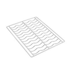 Parrillas de alambre cromado onduladas 4 piezas 435x320mm