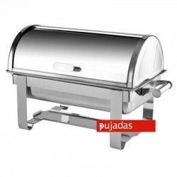 Chafing dish con tapa tipo roll top 65x38 cm