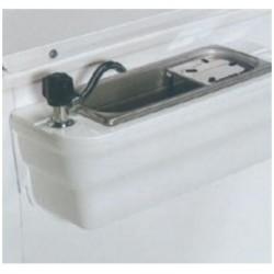 Lavaporcionador con Grifo y consola plástico para Vitrinas Heladería ISA