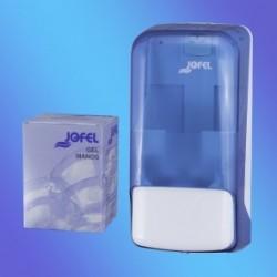 DOSIFICADOR  DE JABÓN PARA CARTUCHO AZUR azul 0.8 litros