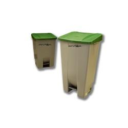 Cubo de basura con pedal y ruedas 87.5 cm altura