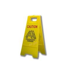 """Cartel de señalización """"piso mojado"""" 27x65 cm"""