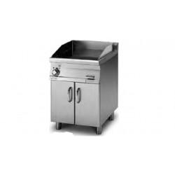 Plancha Fry-Top Acero Inox.. Ranurada con Mueble Eléctrica de 600x705x900 mm LOTUS