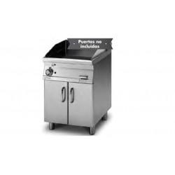 Plancha Fry-Top Acero Inox. Mixta,con Mueble a Gas de 600x705x900 mm LOTUS