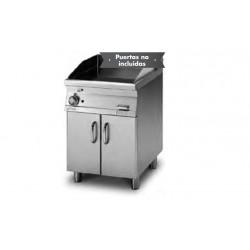 Plancha Fry-Top de Cromo Duro Mixta con Mueble a Gas de 600x705x900 mm LOTUS