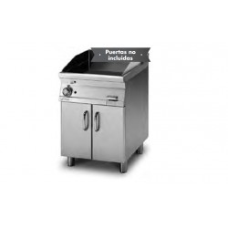 Plancha Fry-Top de Cromo Duro Ranurado con Mueble a Gas de 600x705x900 mm LOTUS