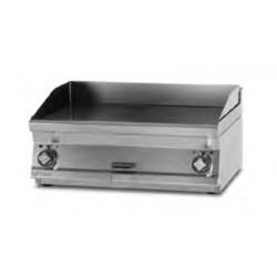 Plancha Fry-Top de Acero Inox. Ranurado, Sobremesa Eléctrica de 600x600x280 mm LOTUS