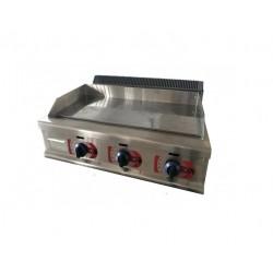 Plancha Fry-top de Hierro, Sobremesa a Gas de 950x520x340 mm