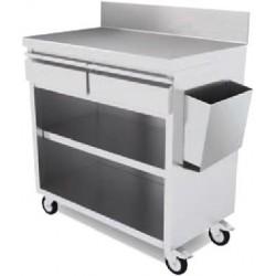 Muebles Para Terraza Acero inoxidable sin puertas (Entrega montado) 1000x450x1192 MT1045S/P