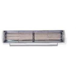 Calefacción radiante eléctrica para exteriores TECNA VICTORY HLWCB 20B cerámicos (no emite luz) Negro (580x120x120 mm)