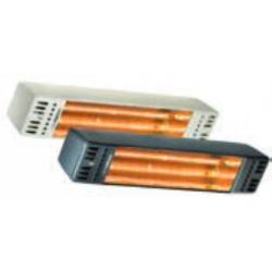 Calefacción radiante eléctrica para exteriores TECNA VARMA TOP FM IPX5 1.500 w. Blanco (430x110x80 mm.)