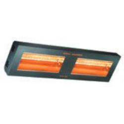 Calefacción para exterior TECNA VARMA 400/2H-40XFM, 2 lámparas en linea, Negro, IPX5 (800x220x110 mm.)