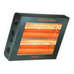 Calefacción radiante eléctrica para exteriores TECNA VARMA 400/2V-40XFM, 2 lámparas en vertical, Negro, IPX5 (400x350x110 mm)