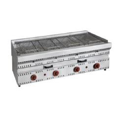 Barbacoas a Gas con Deflectores GVD-4G 700 (1300x700x850 mm)