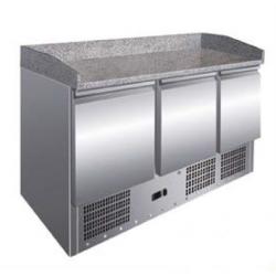 Mesa fría para preparación pizzas con expositor de ingredientes MRP-136-EX (1400x700x1430 mm)